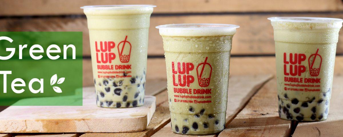 green tea bubble tea lup lup