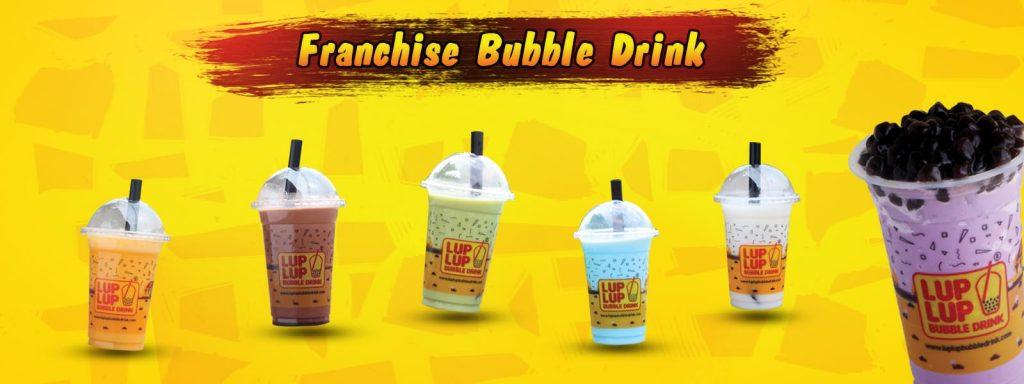 lup lup bubble drink minuman segar unik